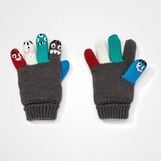 d6896911754 Toddler Boys  Critter Finger Gloves Cat   Jack™ - Blue   Target ...