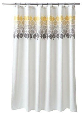 Threshold Medallion Shower Curtain Ombre 72 X72 Cream