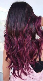 25 colori di capelli Balayage: riflessi biondi, marroni e caramello   – hair Col… ,