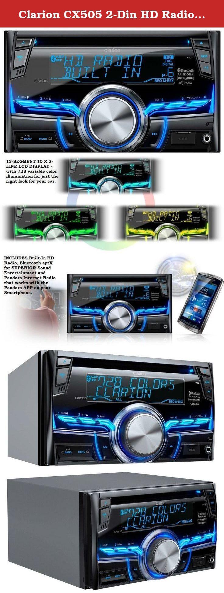Clarion CX505 2-Din HD Radio/Bluetooth/CD/USB/MP3/WMA Recei
