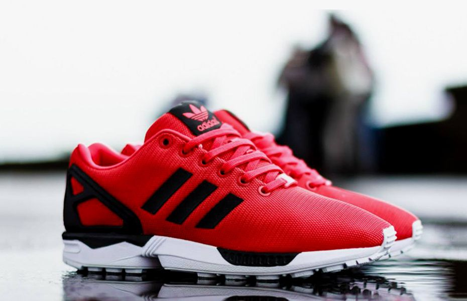 super popular 841ba 7bc45 Image of adidas Originals ZX FLUX Red Black