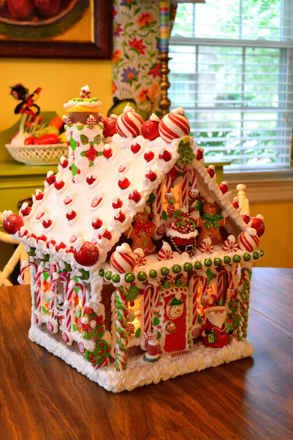 Personalized Wired Wooden Gingerbread House Christmas Gingerbread House Christmas Gingerbread Gingerbread