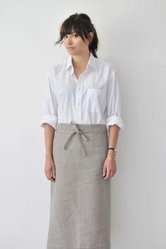 Så fint med naturmaterial, med flanellskjorta dock