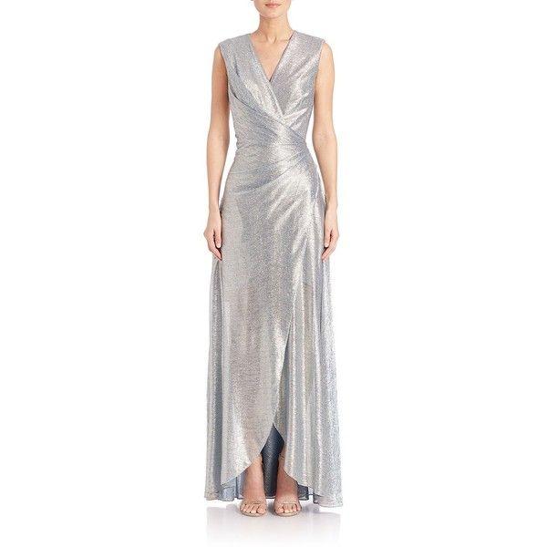 Talbot Runhof belted laminated dress Discount Explore WmwxFS9