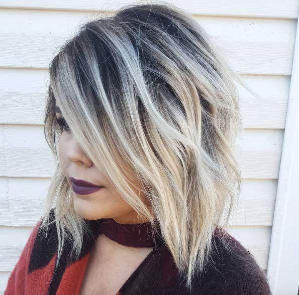 Bronde Blonde Hair With Dark Roots