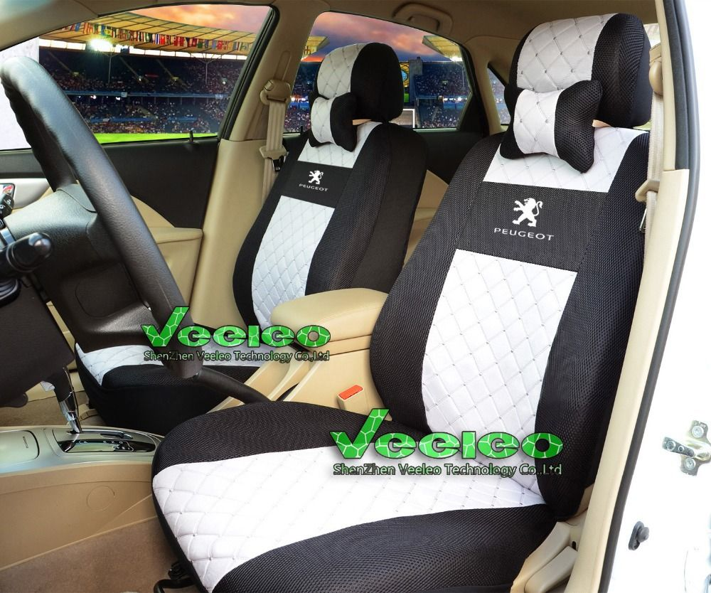 """Seat Cover for Car /""""Rome Sport/"""" Racing Style Stripes Black//Red with Vinyl Mats"""