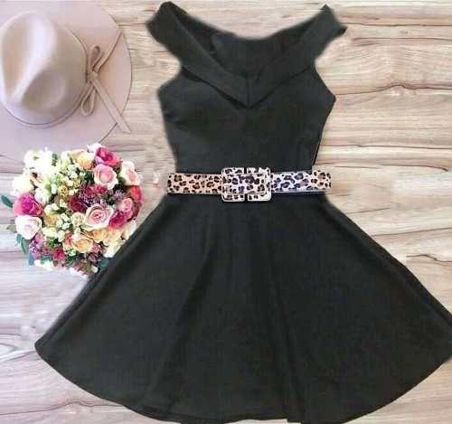 Vestido Boneca Fashion Neoprene Vários Modelos Com Bojo - R$ 88,99 no MercadoLivre