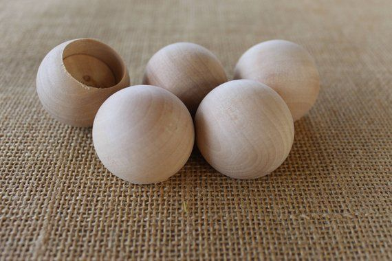 One And A Half Inch Wooden Ball Dowel Cap With 1 Inch Hole Or 78