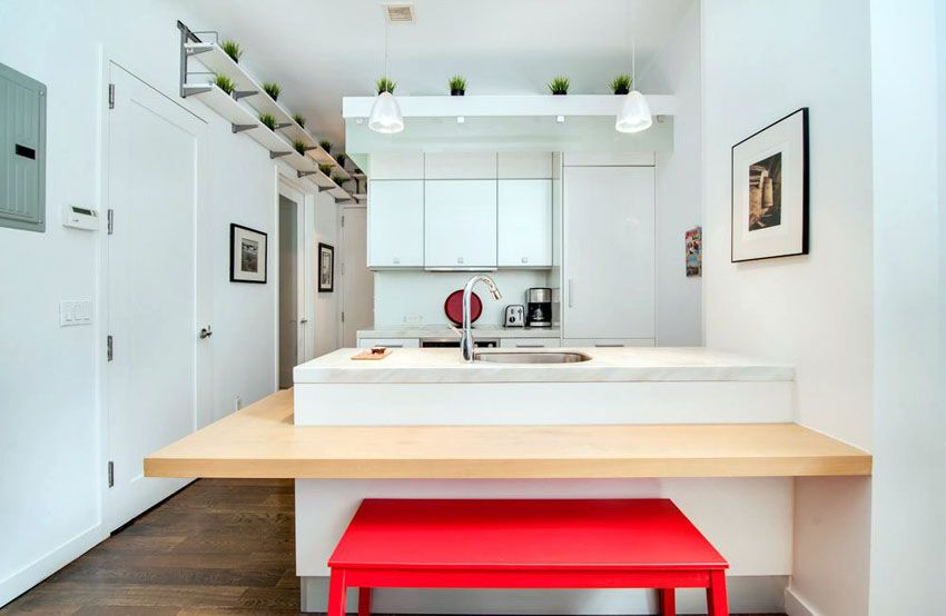 Beautiful Kitchen Islands With Bench Seating White Contemporary