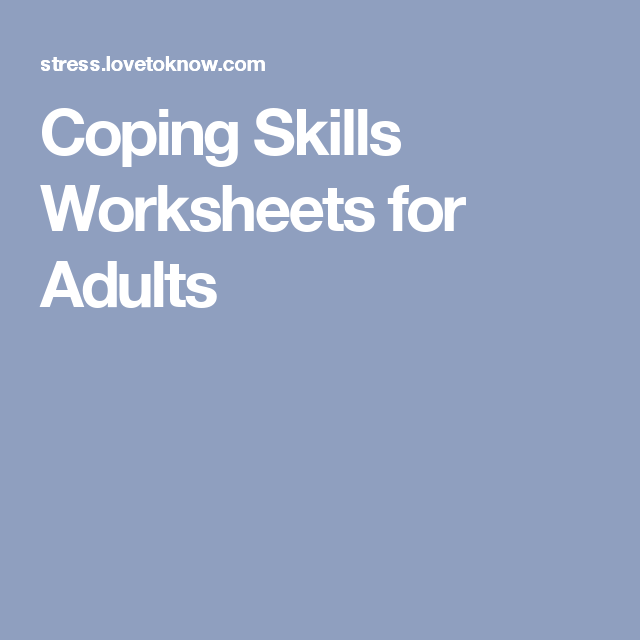 Coping Skills Worksheets for Adults | Oficinas