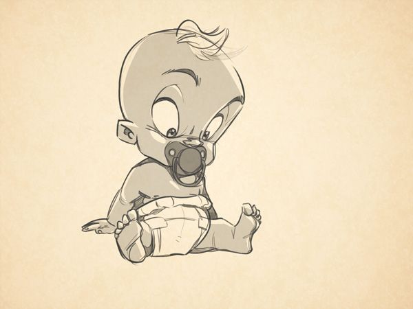 One Line Art Animation : As a cartoonist and recent father of one lovely six month old