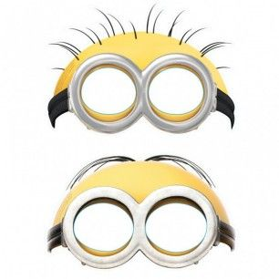 Pack contains 6  cardboard party masks featuring a mix of two variant Minions designs. These masks come with attached elastic headbands for easy fitting, one size will fit children and most adults.The dimensions below are for the product packaging.