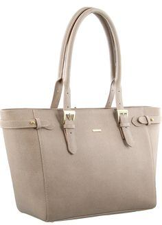 Morrissey Italian Leather Structured Per Tote In Taupe Mo 1997
