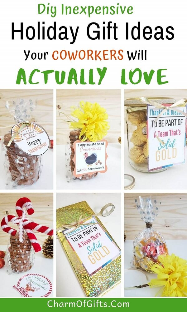 DIY Holiday Gifts For Coworkers Under $5 (Free Printable Tags) DIY Holiday Gifts For