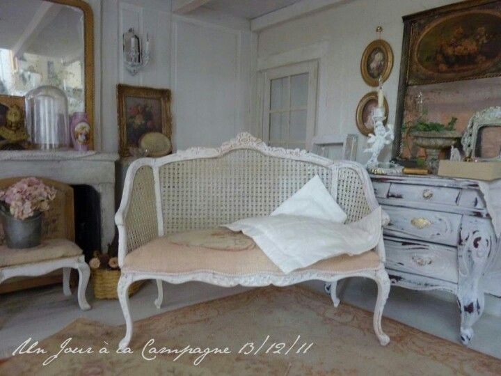 Lovely cane love seat