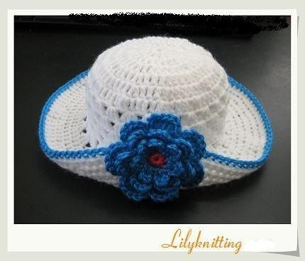 PATTERN in PDF -- crocheted baby cloche beanie summer hat with a ...
