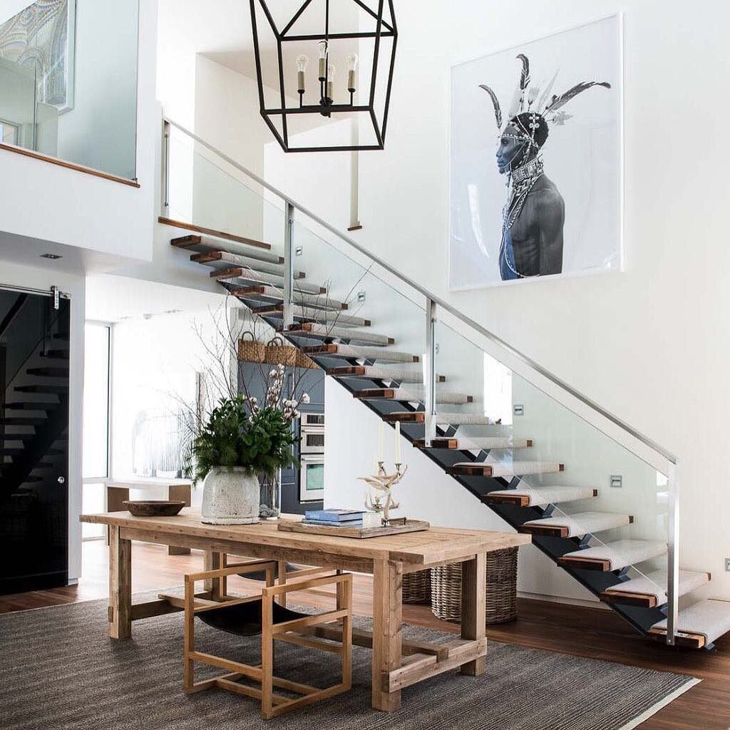 Modern rustic dining room table  Follow archidesignhome for more homes Modernrustic chalet in