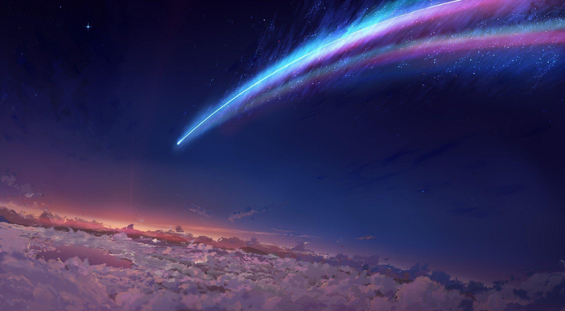 Lovely Kimi No Nawa Meteor Pemandangan anime, Gambar