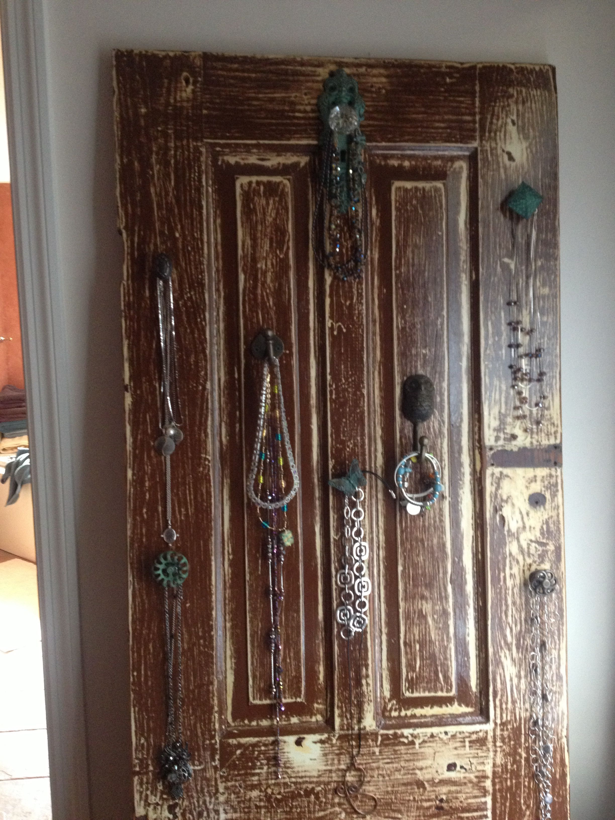 Old Interior Door Turned Jewelry Holder Theme Old World To The