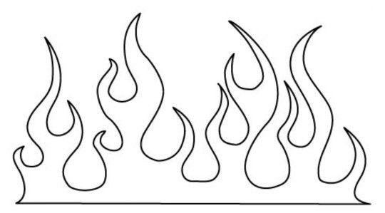 Flames | Exercise | Cake templates, Flame design, Stencils