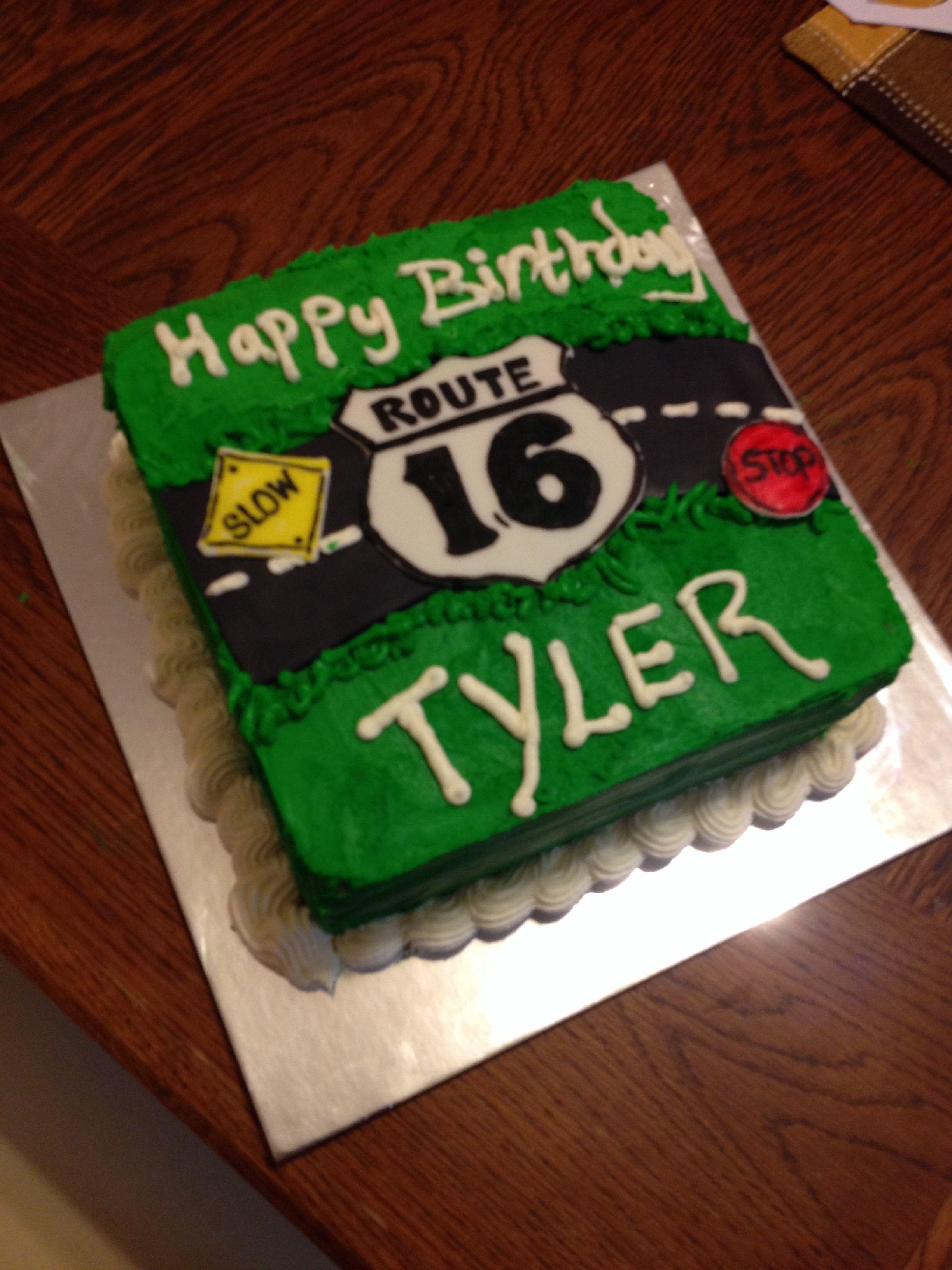 Magnificent 16Th Birthday Cake Boys 16Th Birthday Cake 16 Birthday Cake Funny Birthday Cards Online Chimdamsfinfo