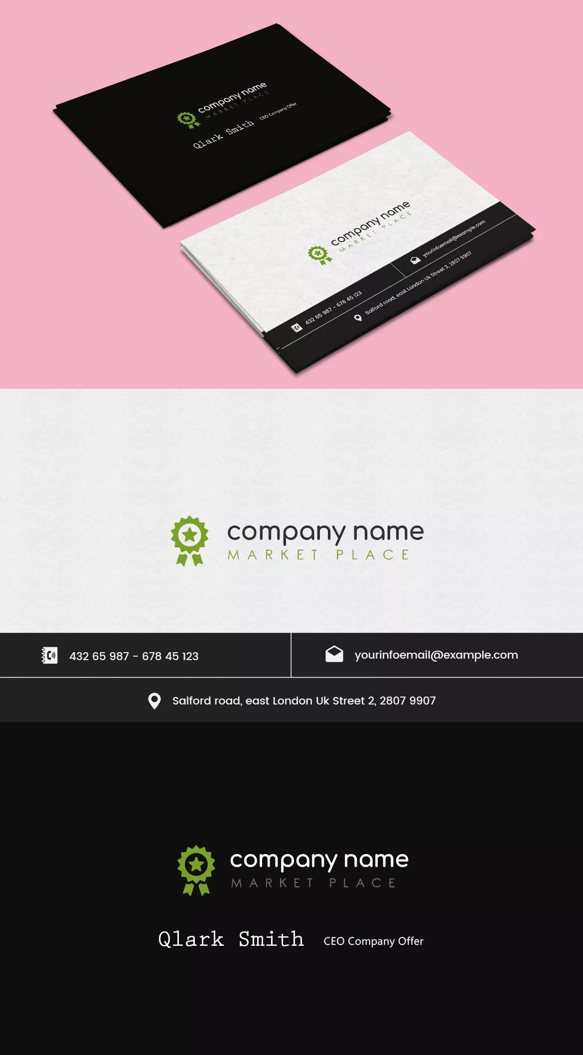 Company market business card template psd business card company market business card template psd reheart Image collections