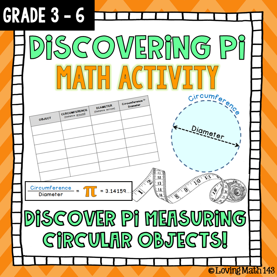 Discovering Pi Math Activity For Pi Day Math Activities Math For Middle School Math [ 960 x 960 Pixel ]