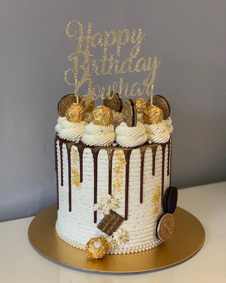 Glittering Drip Cake Buttercream Birthday Cake Chocolate Drip Cake Elegant Birthday Cakes