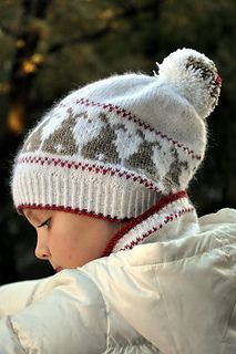 **Worsted #6 Free Pattern (knits really big - use sml size)**  Ravelry: Snow Bunnies pattern by Hanna Maciejewska