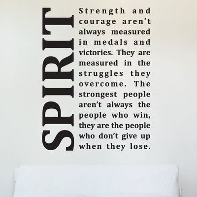 Wallums Wall Decor Spirit Strength And Courage Quote Wall Decal Color:  Black | Products | Pinterest | Courage Quotes, Décor And Quote Wall