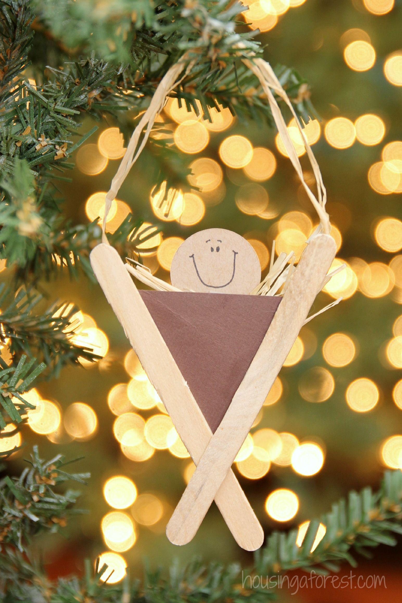 Nativity Craft For Kids Popsicle Stick Manger