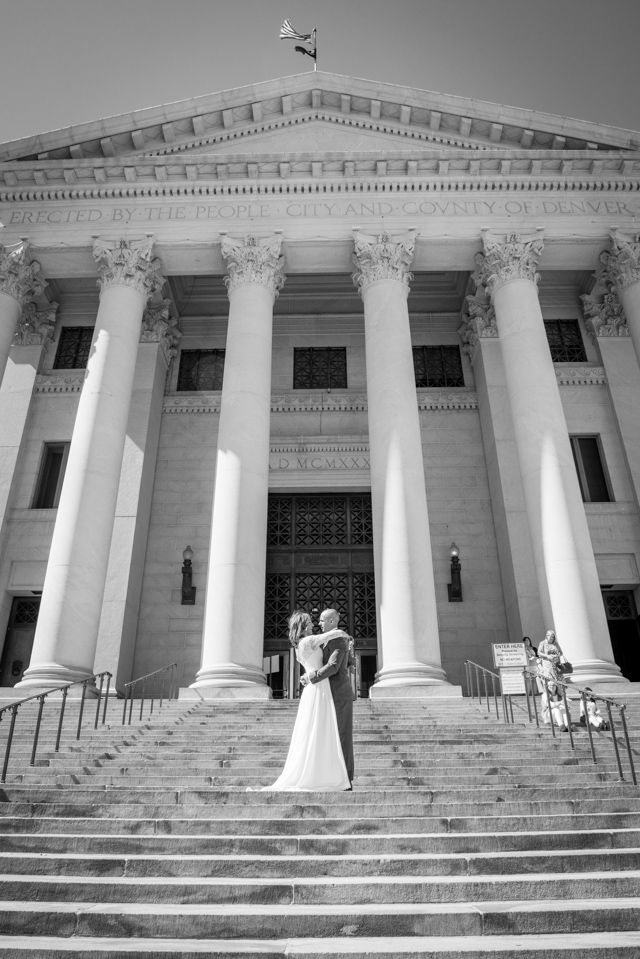 Denver Courthouse Elopement Wedding Photography At Civic