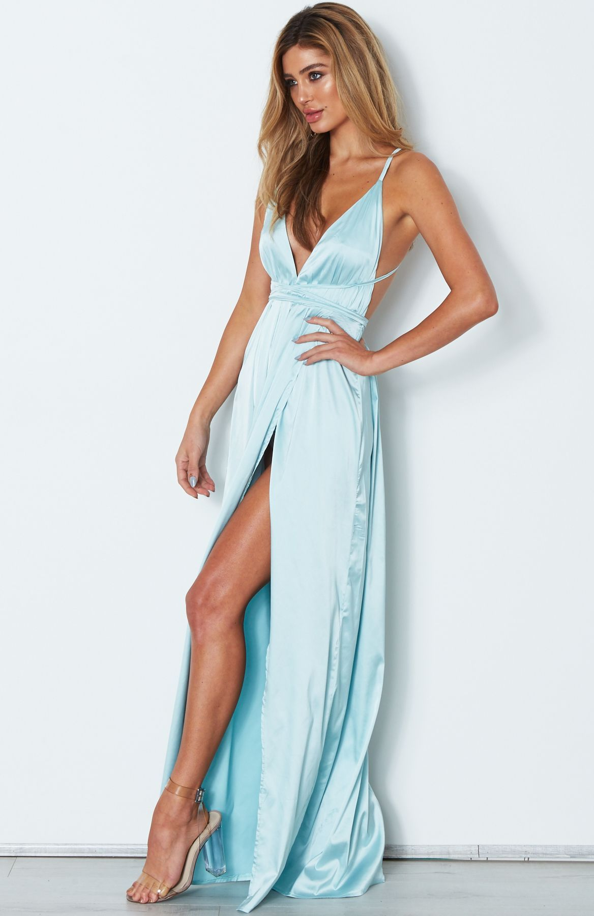 2fd5e19f28d Akela Maxi Dress Misty Blue