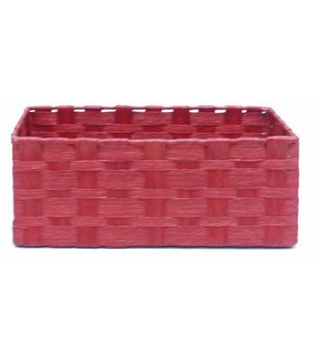 Attractive Organizing Essentials™ Paper Rope Media Basket Red