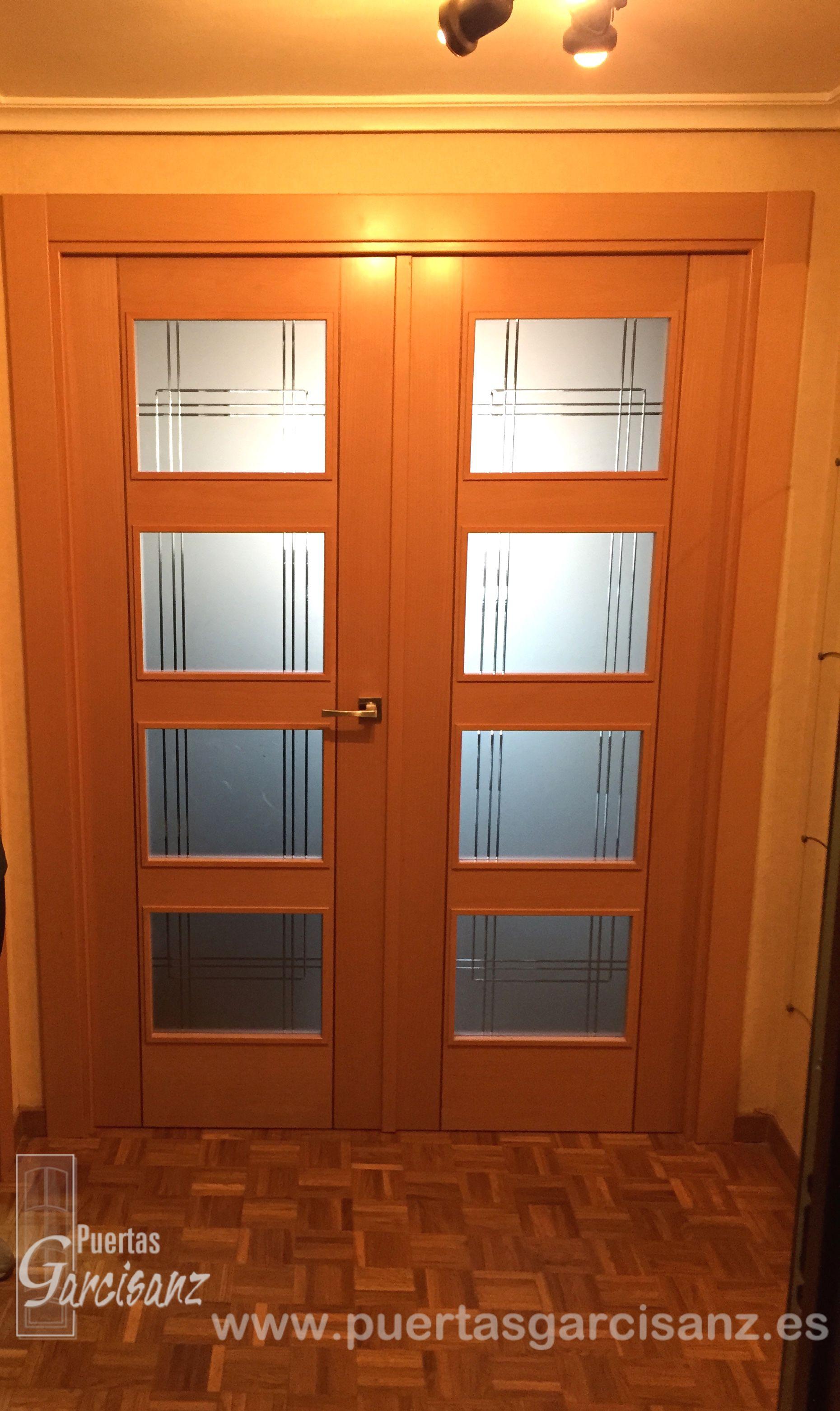 Puerta doble de sal n mod deco t 4vll de artevi con - Puertas de salon con cristal ...