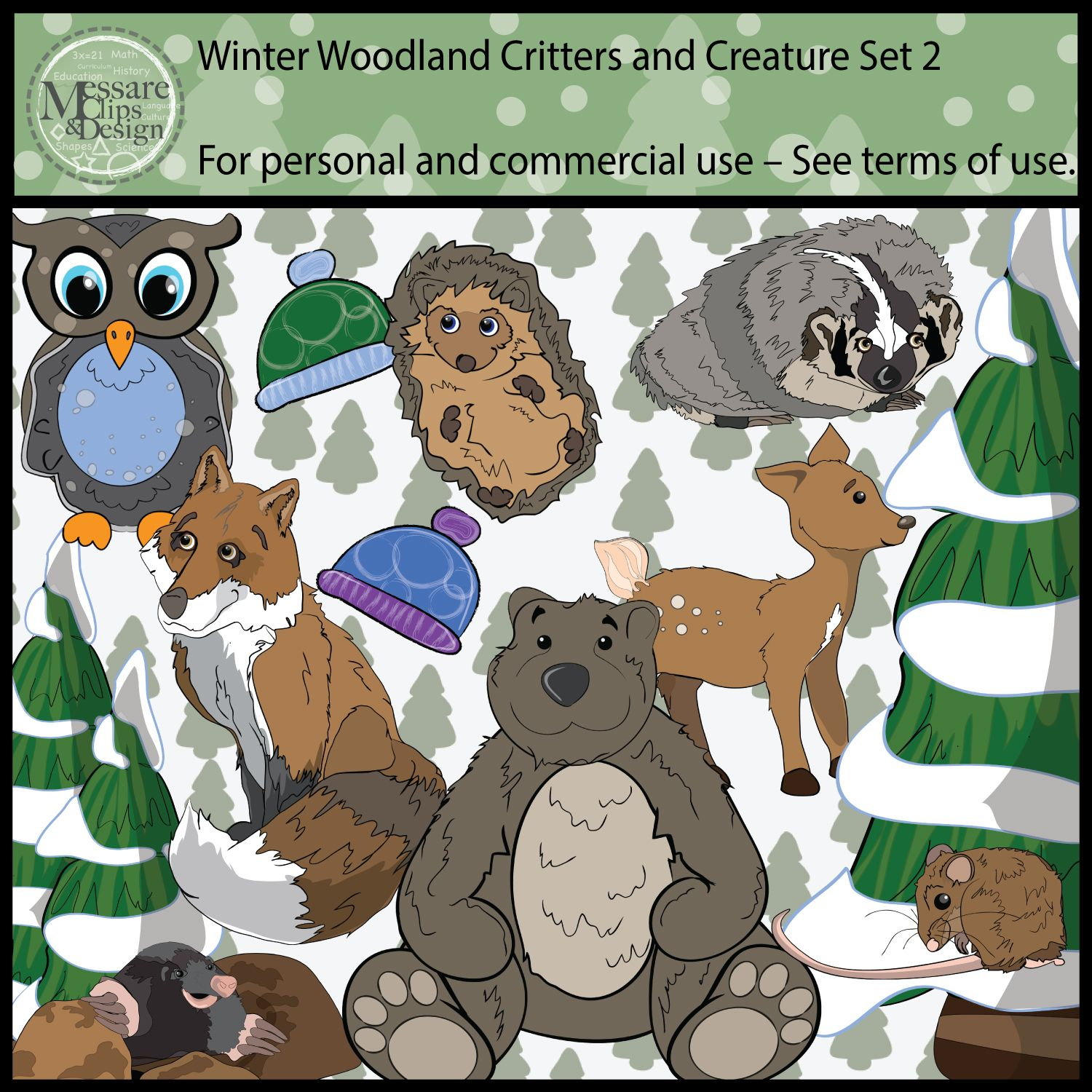The Woodland Animals Pack 2 Of My Critter And Creature