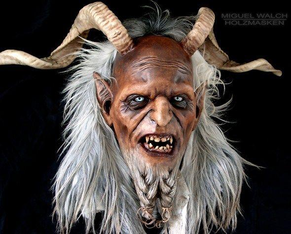 Miguel Walch Wooden Masks Krampus Masks Love The Beard Krampus