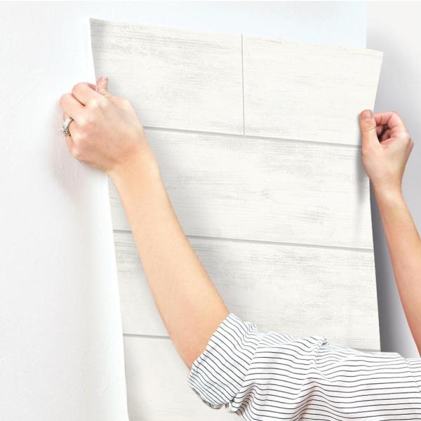 Magnolia Home by Joanna Gaines 56 sq. ft. Shiplap Removable Wallpaper MH1560 - The Home Depot