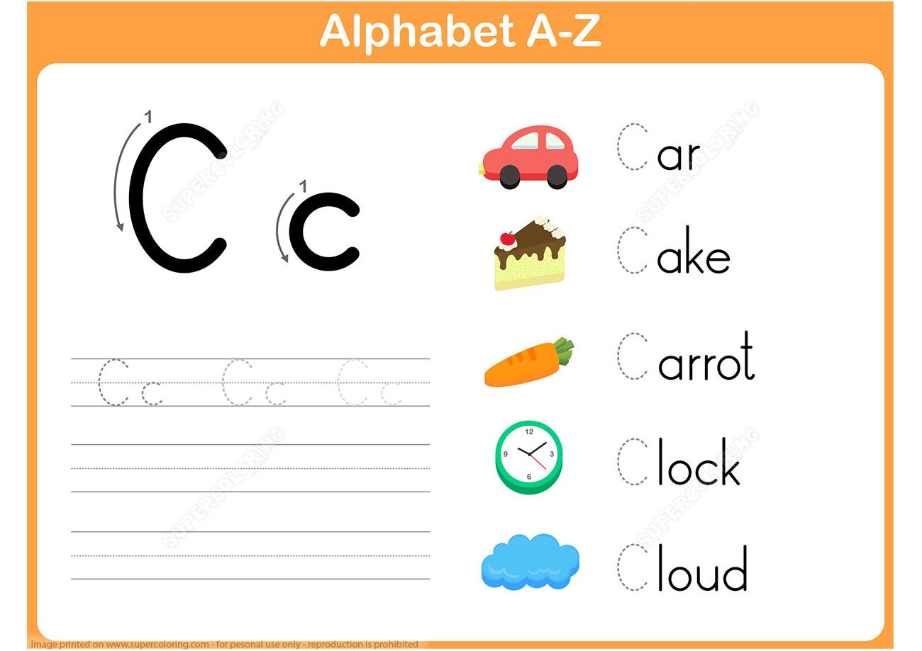 Printable Printable Alphabet Worksheets Letter C Letter C