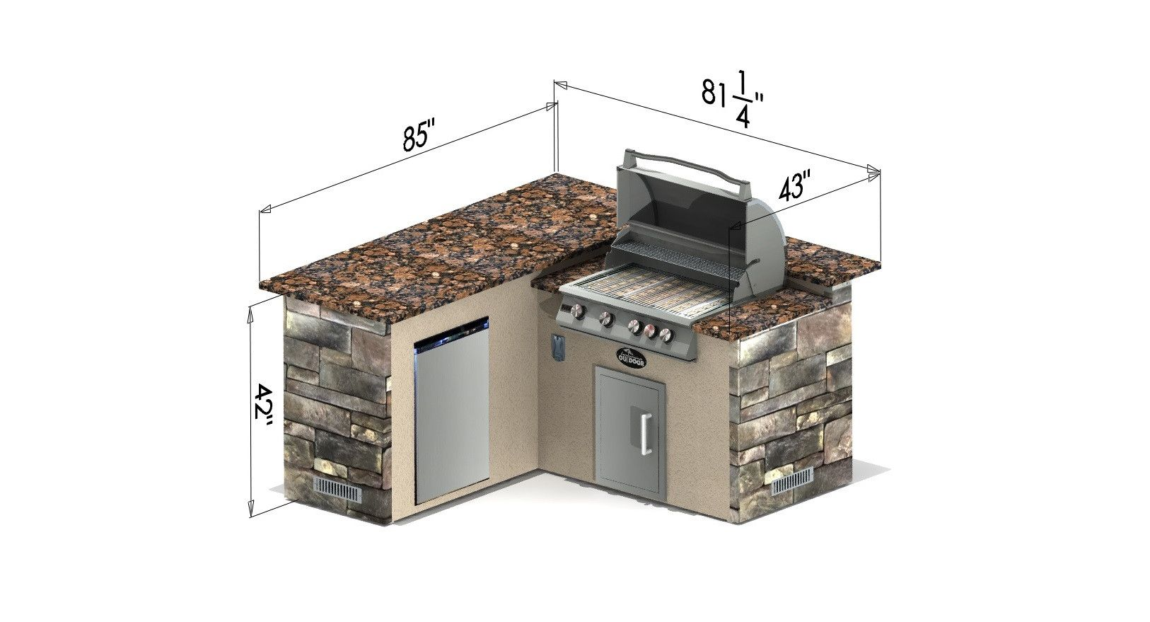 Select Series Backstretch Outdoor Kitchen Island Outdoor Kitchen Outdoor Kitchen Island Outdoor Kitchen Bars