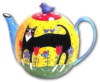 Cat teapot: