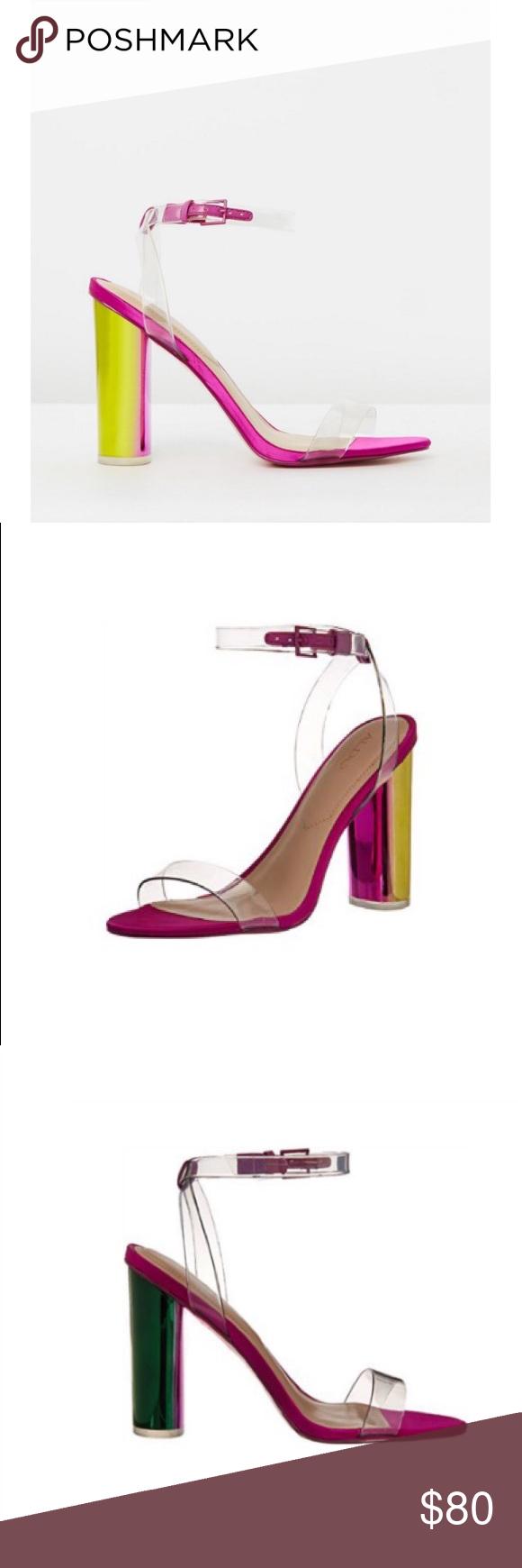 12ba62d2ff ✨ALDO✨Astareni Transparent Fuschia Sandals ALDO Astareni Transparent  Fuschia Sandals •Size 8.5 •97% Polyurethane, 3% Metal •Rubber sole • Heeled  Sandal ...