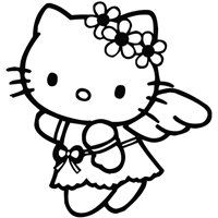 5 99 Hello Kitty Angel Cartoon Decal Vinyl Car Wall Laptop Cellphone Sticker From Leon Onli Kitty Coloring Hello Kitty Coloring Hello Kitty Colouring Pages