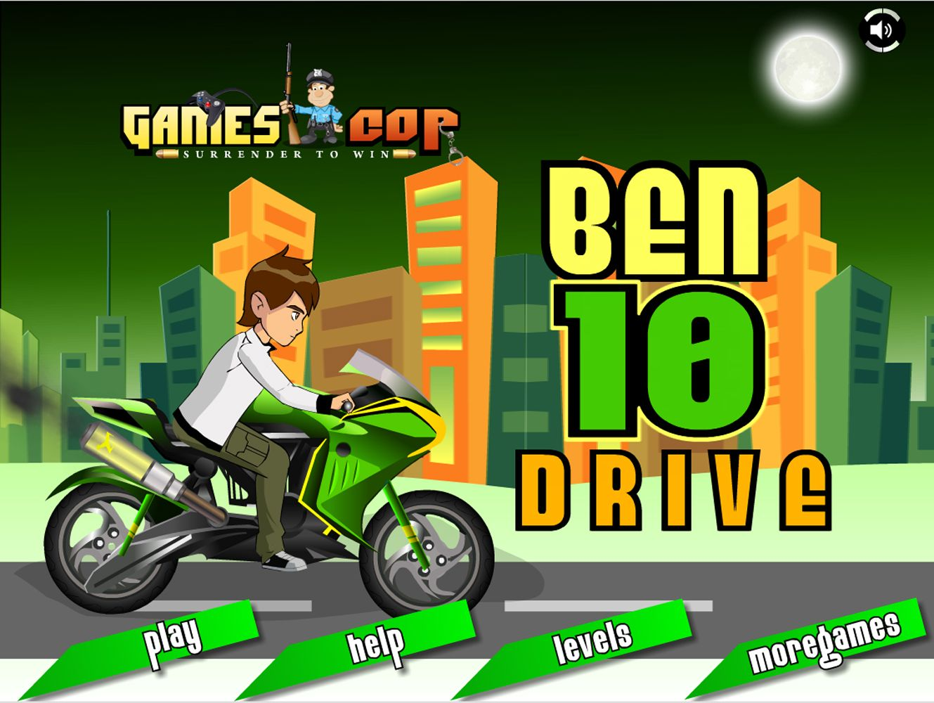 This Ben 10 Drive Bike Racing Game Is A Amazing Racing Bike Racing