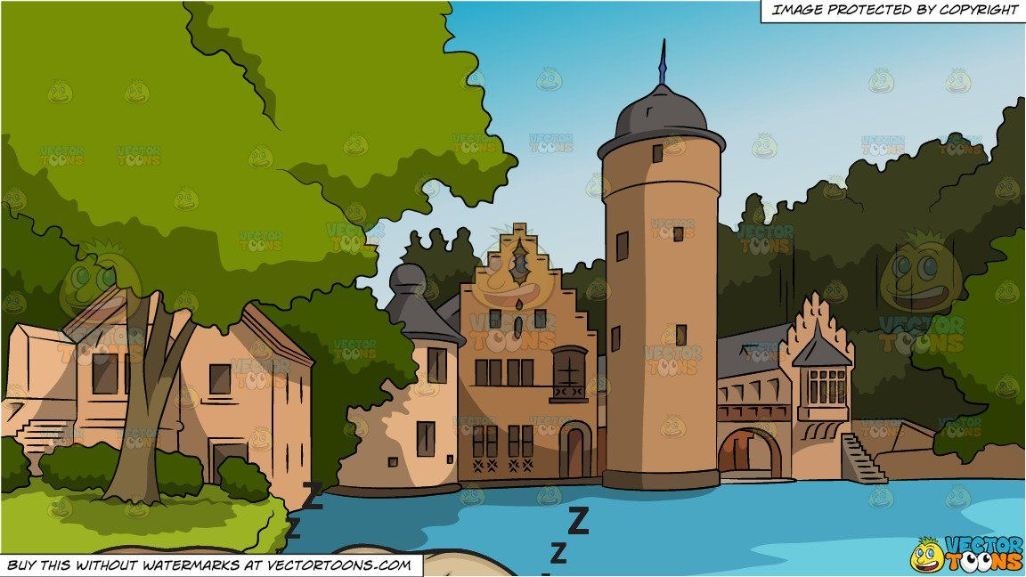 Let Sleeping Dogs Lie And Countryside Castle Background Castle