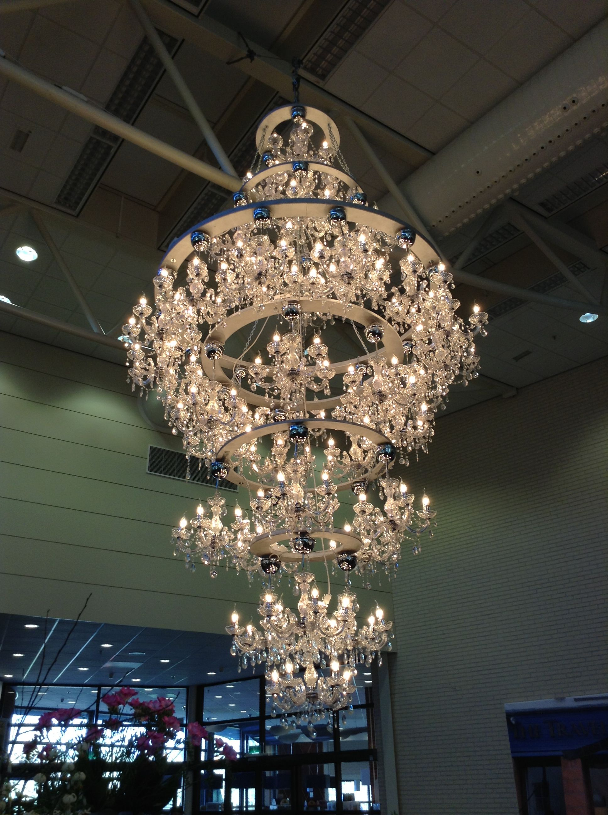 Chandeliers made out of chandeliers in Amsterdam