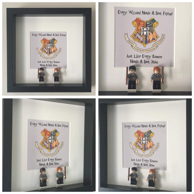 Harry Potter Best Man Minifigure Wedding Frame.   Minifigure Frame ...