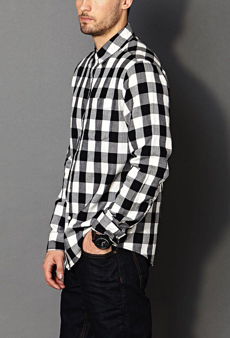 Mens Black And White Checkered Shirt | My | Pinterest