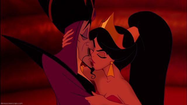Jasmine Kisses Jafar Disney Princess Aladdin Aladdin 1992