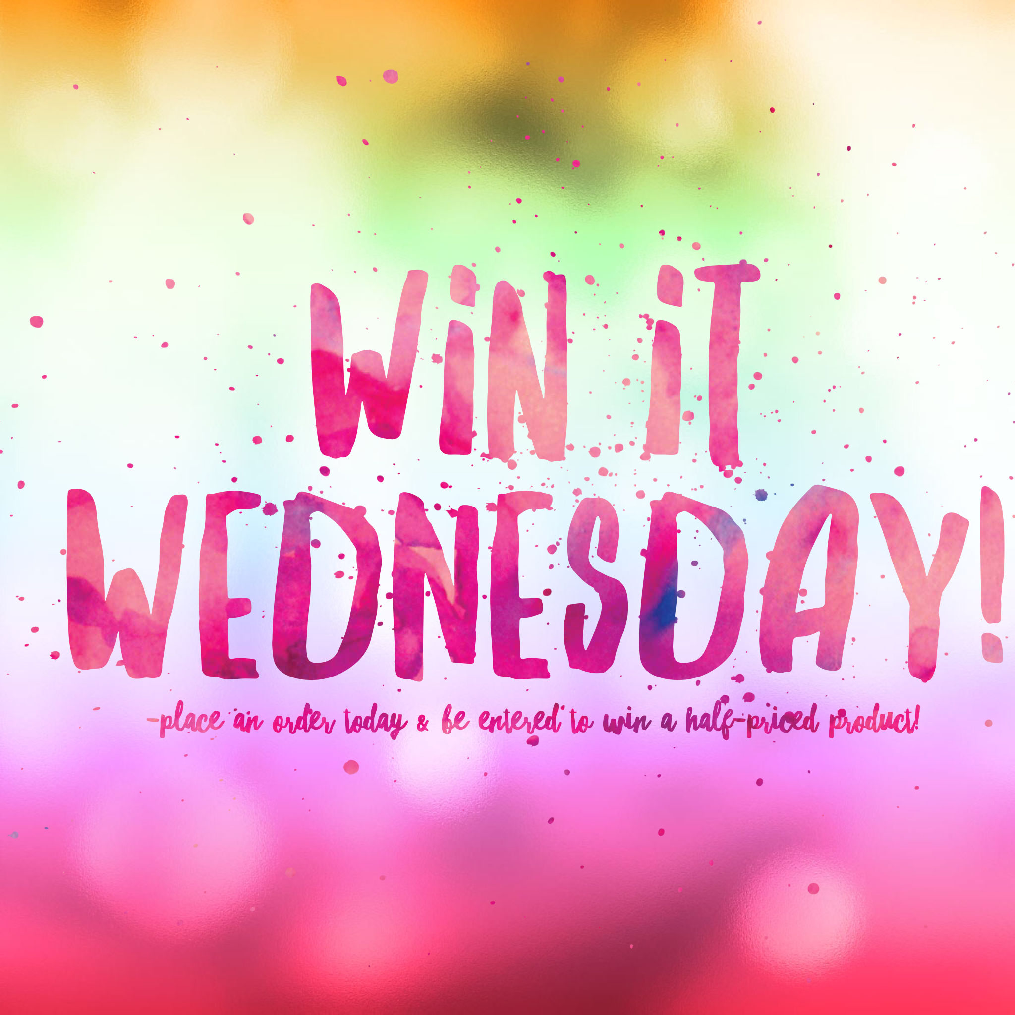 Win it Wednesday! Place a Younique order today and be